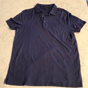 Men's Short Sleeve Navy Blue Polo style Shirt
